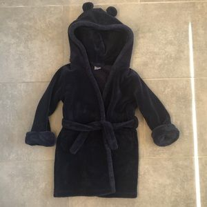 EUC Baby Gap navy kids robe w/hood
